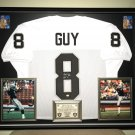 Premium Framed Ray Guy Autographed Oakland Raiders Jersey - GTSM COA