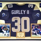 Premium Framed Todd Gurley Autographed Rams Jersey - PAAS COA