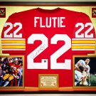 Premium Framed Doug Flutie Autographed Boston College BC Eagles Jersey - Schwartz COA