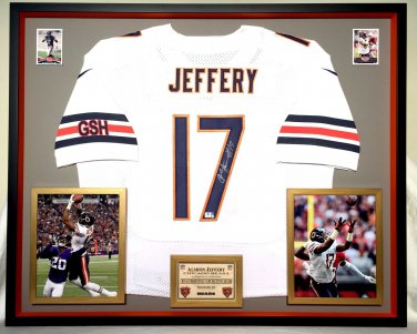 Premium Framed Alshon Jeffery Autographed Bears Chicago Bears Nike Jersey - GA COA