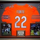 Premium Framed Matt Forte Autographed Bears Chicago Bears Nike Jersey - GA COA
