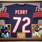 Premium Framed William Refrigerator Perry Autographed Bears Jersey - Schwartz COA - the Fridge