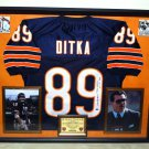 Premium Framed Mike Ditka Autographed Chicago Bears Jersey - Leaf COA