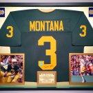 Premium Framed Joe Montana Autographed Notre Dame Jersey - GTSM Official Montana Hologram