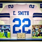 Premium Framed Emmitt Smith Autographed Dallas Cowboys Jersey - GA COA