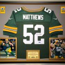 Premium Framed Clay Matthews Autographed Green Bay Packers Nike Jersey - AAA COA