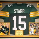 Premium Framed Bart Starr Autographed & Inscribed Green Bay Packers Jersey - GA COA