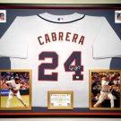 Premium Framed Miguel Cabrera Autographed Detroit Tigers Jersey - GA COA
