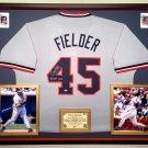 Premium Framed Cecil Fielder Autographed Detroit Tigers Jersey - Schwartz COA