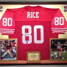 Premium Framed Jerry Rice Signed 49ers Official Mitchell & Ness Jersey - Official Jerry Rice Holo