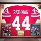 Premium Framed Tom Rathman Autographed 49ers Jersey - GTSM Official COA