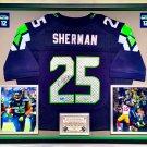 Premium Framed Richard Sherman Autographed Seahawks Nike Elite Jersey - AAA COA