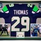 Premium Framed Earl Thomas Autographed Seattle Seahawks Jersey - GA COA