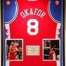 Premium Framed Jahlil Okafor Autographed 76ers Jersey - Schwartz COA