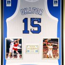 Premium Framed Jahlil Okafor Autographed Duke Blue Devils Jersey - Schwartz COA