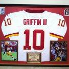 Premium Framed Robert Griffin III Autographed Redskins NIKE Jersey - GA COA