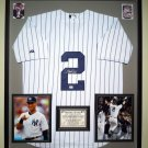 Premium Framed Derek Jetter Autographed New York Yankees Official MLB Jersey - GA COA