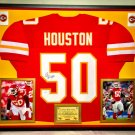 Premium Framed Justin Houston Autographed Kansas City Chiefs Jersey - GTSM Official COA
