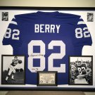 Premium Framed Raymond Berry Autographed Colts Jersey - Leaf COA