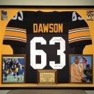 Premium Framed Dermontti Dawson Autographed Steelers Jersey - GTSM Official COA