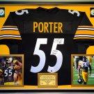 Premium Framed Joey Porter Autographed Steelers Jersey - TSE COA