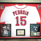 Premium Framed Dustin Pedrioa Autographed Red Sox Jersey - GA COA - Redsox