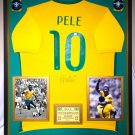 Premium Framed Pele Autographed Official Nike Brazil Soccer Jersey Shirt - GA COA - Edson Pele