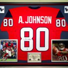 Premium Framed Andre Johnson Autographed Houston Texans Jersey - GA COA