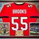 Premium Framed Derrick Brooks Autographed Tampa Bay Buccaneers Jersey - JSA COA