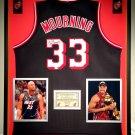Premium Framed Alonzo Mourning Miami Heat Jersey - GA COA