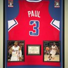 Premium Framed Chris Paul Autographed / Signed Clippers Jersey - GA COA