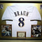 Premium Framed Ryan Braun Autographed Brewers Jersey - GA COA