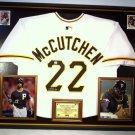 Premium Framed Andrew McCutchen Autographed Pirates Jersey - GA COA
