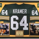 Premium Framed Jerry Kramer Autographed / Signed Inscribed Packers Jersey  - Schwartz COA