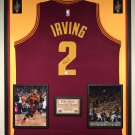 Premium Framed Kyrie Irving Autographed / Signed Cleveland Cavaliers Jersey - GA COA - Cavs