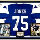 Premium Framed Deacon Jones Autographed Rams Jersey - PSA COA