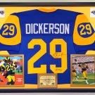 Premium Framed Eric Dickerson Autographed Los Angeles Rams Jersey - PSA COA