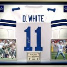 Premium Framed Danny White Autographed / Signed Dallas Cowboys Jersey - Tristar COA
