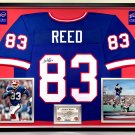 Premium Framed Andre Reed Autographed Buffalo Bills Jersey Signed JSA COA