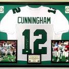 Premium Framed Randall Cunningham Autographed / Signed Eagles Jersey - JSA COA
