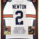 Premium Framed Cam Newton Autographed / Signed Auburn Tigers Jersey  --- GTSM COA
