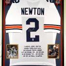 Premium Framed Cam Newton Autographed Auburn Tigers Jersey - GTSM COA