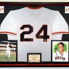 Premium Framed Willie Mays Autographed / Signed Giants Jersey - Official Say Hey Hologram