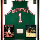Premium Framed Oscar Robertson Signed Milwaukee Bucks Jersey - PSA COA