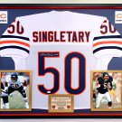 Premium Framed Mike Singletary Autographed / Signed Chicago Bears Jersey Signed - JSA COA