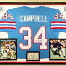 Premium Framed Earl Campbell Autographed Houston Oilers Jersey Signed - JSA COA