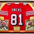 Premium Framed Terrell Owens Autographed / Signed San Francisco 49ers Jersey - Tristar COA