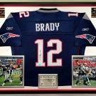 Premium Framed Tom Brady Autographed New England Patriots Reebok Jersey - Mounted Memories COA