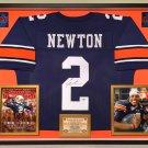 Premium Framed Cam Newton Autographed / Signed Auburn Tigers Jersey - PSA COA