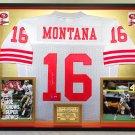 Premium Framed Joe Montana Autographed Official Mitchell & Ness 49ers Jersey - Mounted Memories